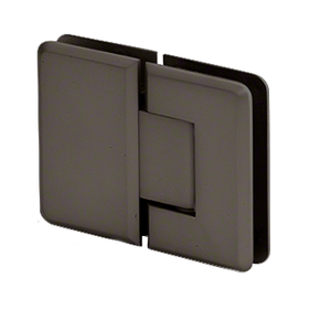 CRL P1N1800RB Oil Rubbed Bronze Pinnacle 180 Series 180 Degree Glass-to-Glass Standard Hinge