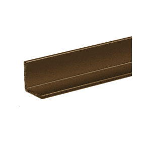 "CRL D1627BRZ Bronze Electro-Static Paint Finish 1/2"" Aluminum Angle Extrusion"