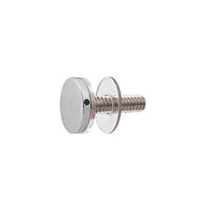 "CRL CAP34SC Satin Chrome 3/4"" Diameter Standoff Cap Assembly"