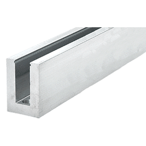 """CRL B7S10D Mill Aluminum Square Heavy-Duty Base Shoe Drilled with Hole Pattern """"D"""" - 10' Long"""
