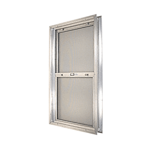 "CRL BAP264 Satin Anodized 20-3/4"" x 30-1/8"" Bel-Air ""Plaza"" Combination Door Unit with Clear Tempered Glass and Mill Frame for 1-3/4"" 2-6 Slab Door"