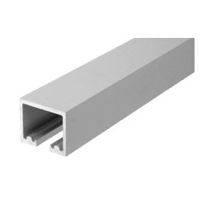 "CRL 0TTR240SA Satin Anodized 240"" Length Top Track for OT Series Top Hung Sliders and Bi-Fold Doors"