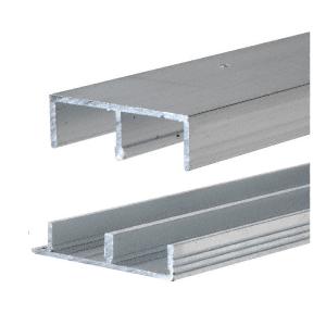 """CRL EP11 Mill Aluminum Track for 3/4"""" Sliding Panels"""