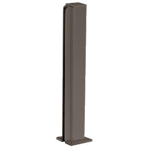 """CRL D990DU18E Duranodic Bronze 18"""" End Design Series Partition Post"""