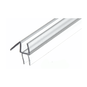 "CRL P990WS Clear Co-Extruded Bottom Wipe with Drip Rail for 3/8"" Glass"