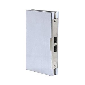 "CRL DLK610EBS Brushed Stainless 6"" x 10"" Center ""Entrance"" Lock Glass Keeper"