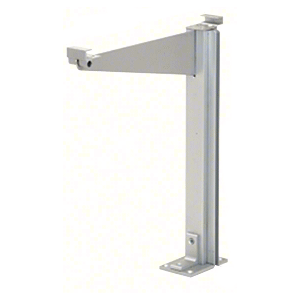 "CRL D995AC Satin Anodized 18"" High Center Design Series Partition Post with a 12"" Deep Top Shelf"