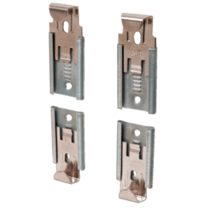 "CRL 64114BV Nickel Plated Adjustable Mirror Clip Set for 1/4"" Beveled Mirror"