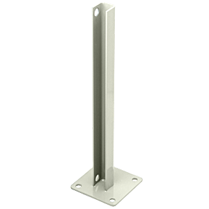 CRL PSB1B0W Oyster White AWS Steel Stanchion for 180 Degree Round or Rectangular Center or End Posts