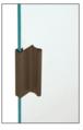 "CRL D643DU Dark Bronze 3"" Aluminum Pull with 7/16"" Lip for Sliding Glass and Panel Door"