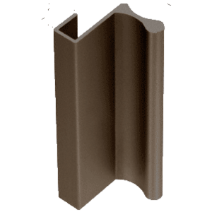 "CRL D643DU Dark Bronze 3"" Aluminum Pull with 7/16"" Lip for Sliding Glass and Panel Door"