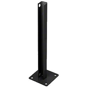 CRL PSB3CBL Matte Black AWS Steel Stanchion for 90 Degree Rectangular Corner Post