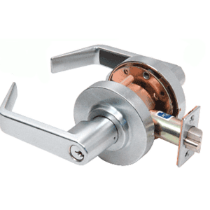 CRL D50ENT Brushed Chrome Heavy-Duty Grade 1 Lever Locksets Entrance - Schlage 6-Pin