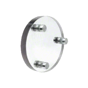 CRL CLD103 Round Level 3 Clear - Vision Bullet Resistant Clear Laminated Polycarbonate Speak - Thru