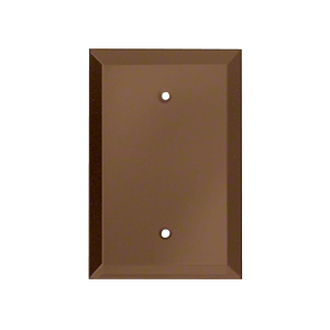 Bronze Blank With Screw Holes Glass Mirror Plate