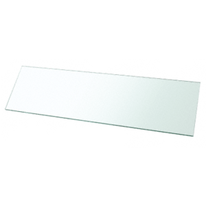 "CRL 38TGR1036 10"" x 36"" Rectangle 3/8"" Clear Tempered Glass Shelf - 2/Pk"