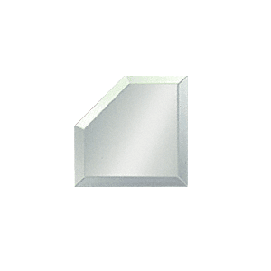 "Clear Mirror Glass 2"" Mitered Corner Beveled on All 5 Sides"
