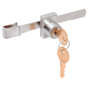 "CRL KV965 Chrome Plated ""Pick-Proof"" Sliding Glass Door Lock"