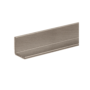 "CRL D1634BN Brushed Nickel 1"" Angle Extrusion 144"" Stock Length"