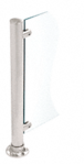 """CRL SA50BS Brushed Stainless Fixed Glass Fitting for 1"""" Tubing"""