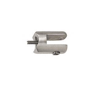 "CRL SA50BS Brushed Stainless Fixed Glass Fitting for 1"" Tubing"