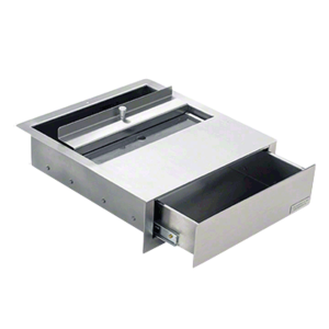 Brushed Stainless Steel Deal Drawer
