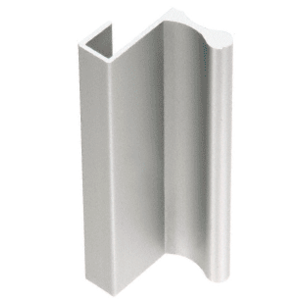 "CRL D640A Satin Anodized 12' Aluminum Extrusion for Showcase Finger Pull with 7/16"" Lip 144"" Stock Length"