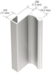 """CRL D640A Satin Anodized 12' Aluminum Extrusion for Showcase Finger Pull with 7/16"""" Lip 144"""" Stock Length"""
