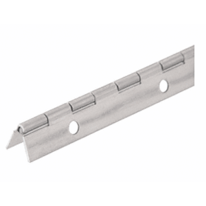"CRL 1716NS Nickel on Steel Piano Hinge with 1-1/16"" Open Width"
