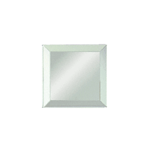 "Clear Mirror Glass 4"" Square Beveled on All 4 Sides"