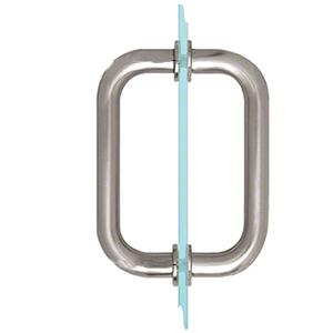 "CRL BM6X6BS Brushed Stainless 6"" BM Series Tubular Back-to-Back Pull Handle"