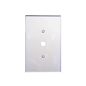 "CRL PMP104 Clear Single Dimmer Switch 1/2"" Hole Acrylic Mirror Plate"
