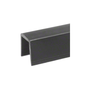 "CRL GR5PV Black Rigid 1/2"" U-Channel Cap Rail Vinyl - 120"""