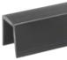 "CRL GR5PV Black Rigid 1/2"" U-Channel Cap Rail Vinyl - 120"""