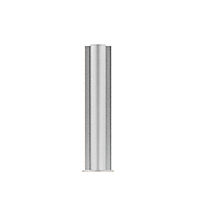 "CRL PP0824CBS Brushed Stainless 24"" Round PP08 Elegant Series Counter/Partition Center Post"