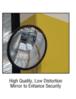 """CRL PLXR13 13"""" Diameter Circular Heavy-Duty Clear Plexiglas Convex Mirror"""