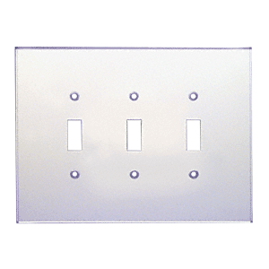 CRL PMP301 Clear Triple Toggle Acrylic Mirror Plate