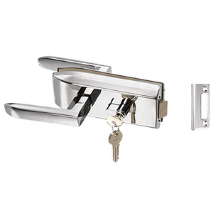 CRL PTH311BS Brushed Stainless Glass Mounted Latch with Lock and Thumbturn