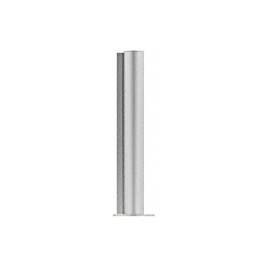 "CRL PP0824EBS Brushed Stainless 24"" Round PP08 Elegant Series Counter/Partition End Post"