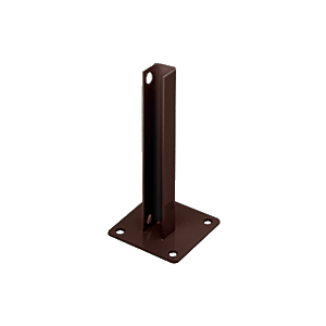 CRL PSB1ABRZ Matte Bronze AWS Steel Stanchion for 180 Degree Round or Rectangular Center or End Posts