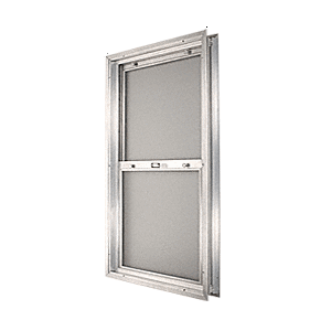 "CRL BAP2440BS Satin Anodized 18-3/4"" x 30-1/8"" Bel-Air ""Plaza"" Combination Door Unit With Obscure Tempered Glass and Mill Frame for 1-3/4"" 2-4 Slab Door"