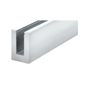 """CRL B5L20 240"""" B5L Series Low Profile Square Aluminum Base Shoe Extrusion Only Without Holes"""