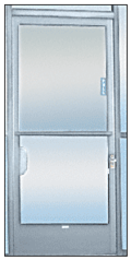 C.R LAURENCE 935A CRL Satin Anodized 2-5//8 x 16 Deluxe Mail Slot With Glass Channel Bar and Latch