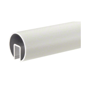 "CRL GR25SA Satin Anodized 2-1/2"" Extruded Aluminum Cap Rail for 1/2"" or 5/8"" Glass - 240"""