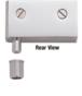 CRL EH328 Satin Chrome Wide Glass Door Pivot Hinge