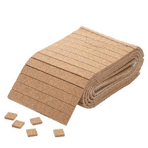 "CRL CNA34 3/4"" x 3/4"" x 1/4"" Cork Non-Adhesive Shipping Pads - Roll"