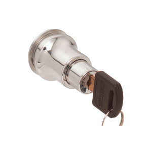 CRL LK50KA Polished Chrome Keyed Alike Lock for Cabinet Glass Door