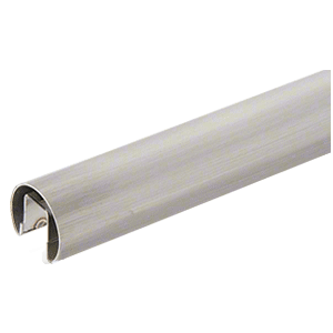 "CRL GR15BS 304 Grade Brushed Stainless 1-1/2"" Premium Cap Rail for 1/2"" Glass - 120"""