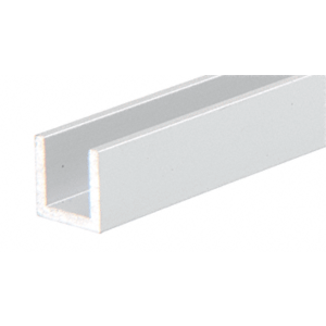 "CRL DV746A Satin Anodized 1/4"" Aluminum U-Channel"