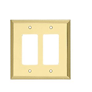 CRL MMP13BR Brass Double Designer Metal Mirror Plate
